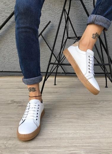 MUWAGO Hakiki Deri Sneakers Beyaz